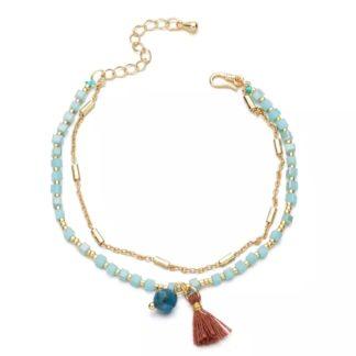 bracelet fantaisie pompon
