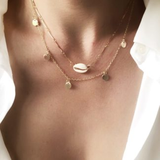 collier ras du cou coquillage