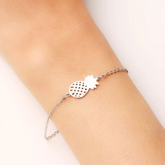 Bracelet ananas argente