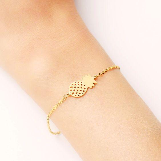 Bracelet fantaisie ananas