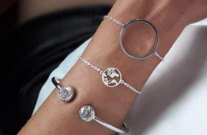 Bracelet fantaisie argente