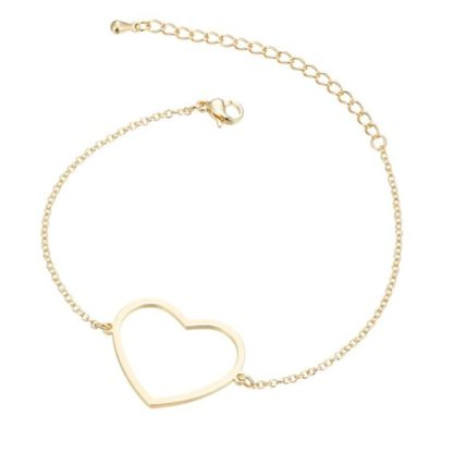 bracelet fantaisie dore coeur