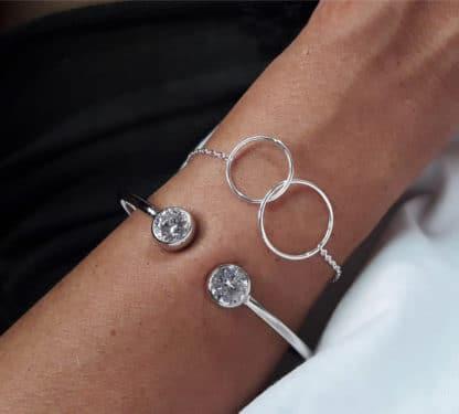 bracelet cercles entrelaces