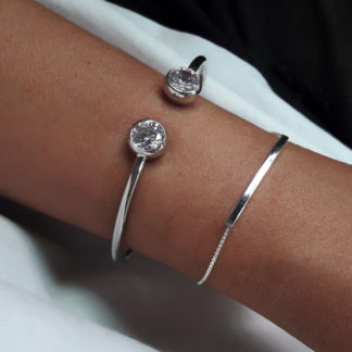 bracelet minimaliste argent