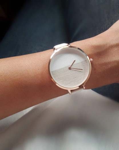 montre blanche orginale