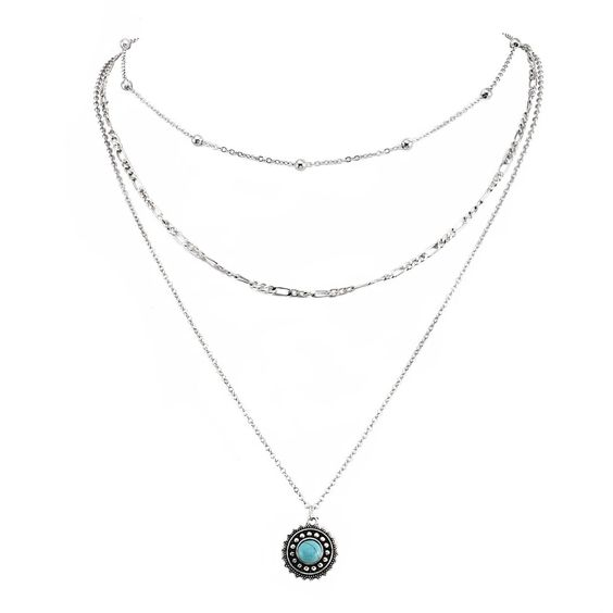 Collier pendentif turquoise pas cher