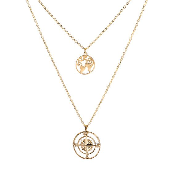 collier globe trotter voyageuse