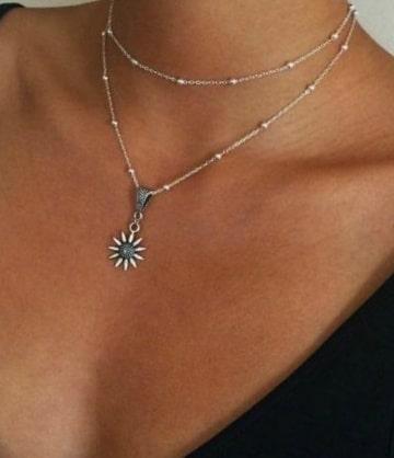 collier soleil cadeau