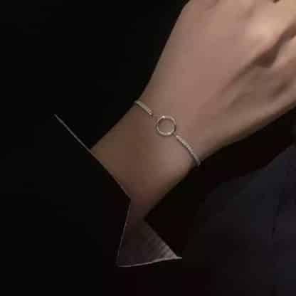 bracelet femme tendance argente