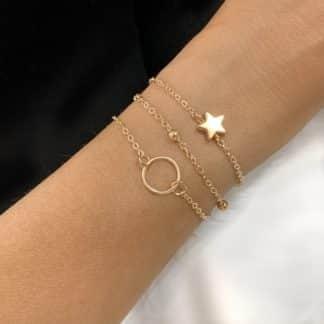 bracelets dores tendance