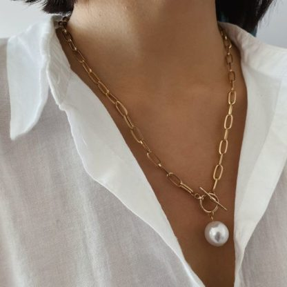 collier perle cadeau pas cher