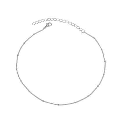 collier chaine perlee argent