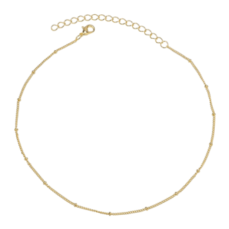 collier chaine perlee plaque or